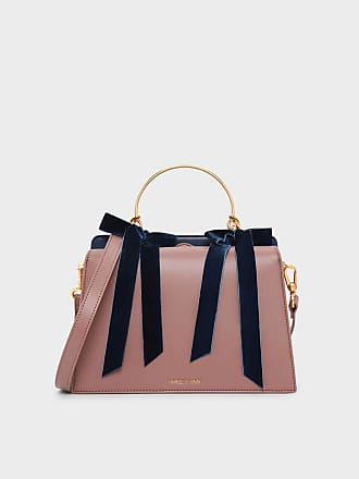 857b32413a Charles   Keith Velvet Bow Detail Handbag