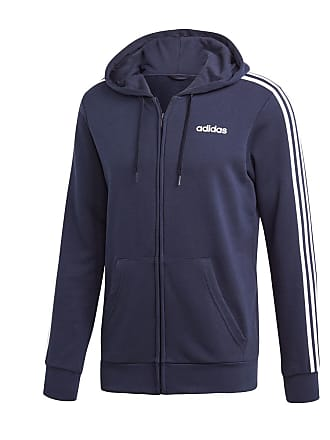 official photos c46db e0387 adidas FELPA FULL ZIP CON CAPPUCCIO 3 STRIPES CORE