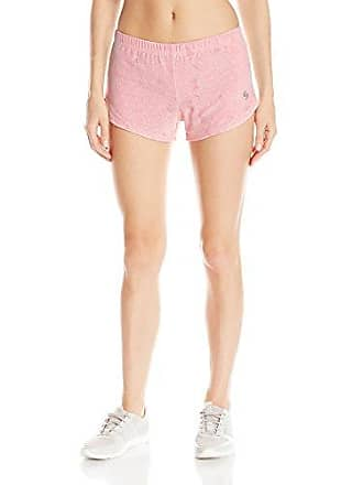Soffe Womens JRS Mesh Lace Kicking It Short, Strawberry Pink/White, Medium