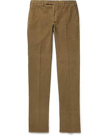 Incotex Slim-fit Garment-dyed Stretch-cotton Corduroy Trousers - Tan