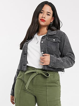 Urban Bliss cropped denim jacket-Black