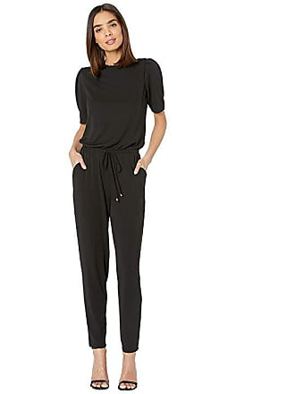 583cae44de5e Ralph Lauren Puff-Sleeve Jersey Jumpsuit (Polo Black) Womens Jumpsuit   Rompers  One