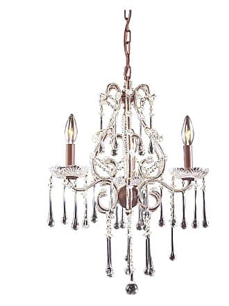 Elk Lighting Opulence Chandelier Crystal - 17W in. Amber - 4011/3AMB