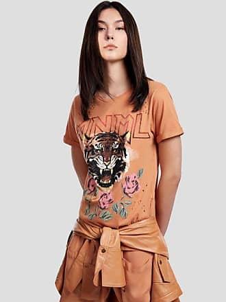 Animale T-Shirt De Malha Com Silk Localizado Marrom Boho - G