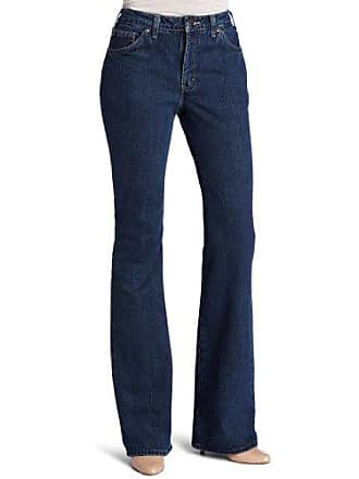 Dickies Womens Flannel Lined Jean, Stonewashed Vintage Blue, 6 Tall