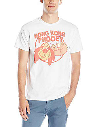 a8843a44ed Hanna-Barbera Mens Hong Kong Phooey Faces T-Shirt, White, Medium
