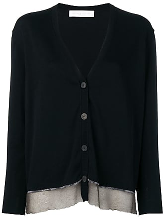 Fabiana Filippi layered hem cardigan - Black