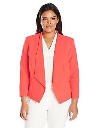 6b06f0c219f Nine West Womens Plus Size Wing Lapel Kiss Front Jacket (2)