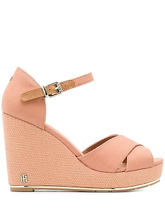 752e569a5 Tommy Hilfiger high wedge sandals - Neutrals