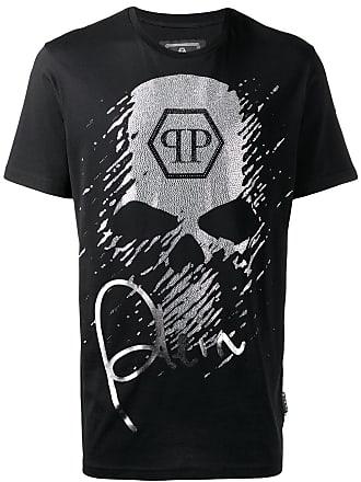 Philipp Plein rhinestone skull T-shirt - Black
