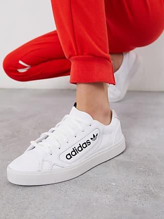 adidas Originals Sleek Over - Weiße Sneaker mit Logo