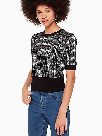 Kate Spade New York Mod Plaid Sweater, Black - Size S