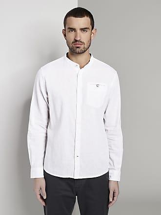 Tom Tailor Hemd mit Mao-Kragen aus Leinengemisch