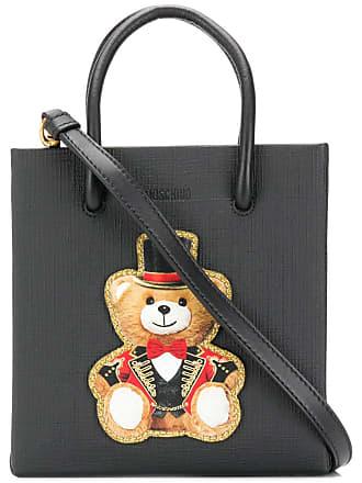 Moschino teddy print crossbody bag - Black