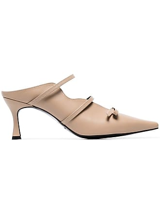 Yuul Yie toffee Judith 70 bow embellished pumps - Neutrals