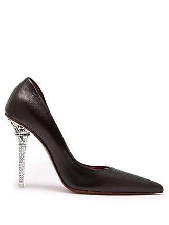 VETEMENTS Eiffel Tower Heel Leather Pumps - Womens - Black