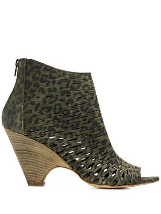 Strategia cut out details ankle boots - Green