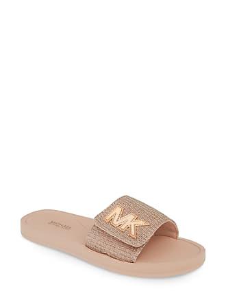 7fa1156146e5f Michael Kors Womens Michael Michael Kors Mk Logo Slide Sandal