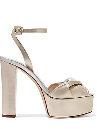 4291adb4aa7 Giuseppe Zanotti Lavinia Metallic Leather Platform Sandals - Gold