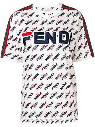 Fendi Camiseta com estampa FendiMania - Branco