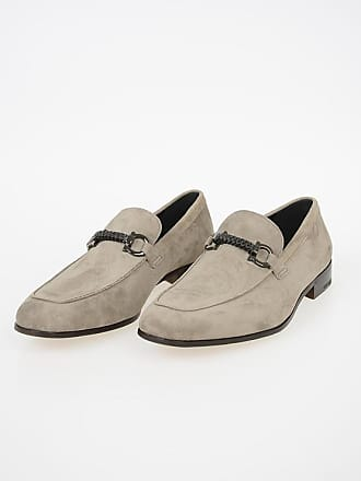 Salvatore Ferragamo Suede Leather CROSS Loafers size 9,5