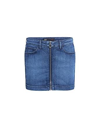 3x1 Zip Front Micro Denim Mini Skirt Kos