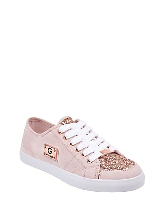 b508a8dab907 Guess Womens Matrix Glitter Sneakers Light Pink