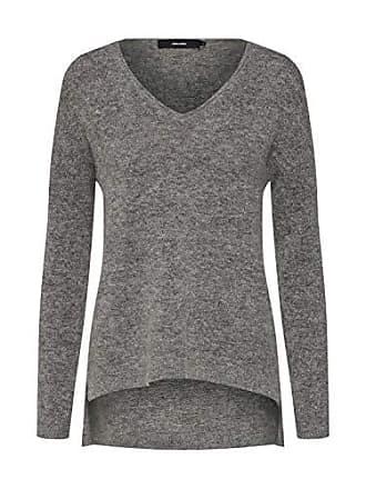 4d0f62f17d Vero Moda Damen Pullover VMCUDDLE LS V-Neck Blouse Graumeliert XS