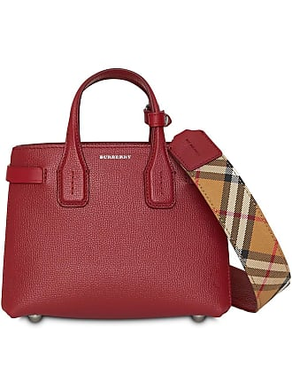 3b5196aa8736 Burberry The Baby Banner in Leather and Vintage Check - Red