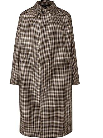 Stella McCartney Oversized Checked Virgin Wool-blend Coat - Brown