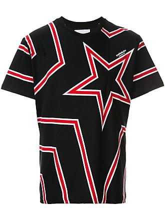 Yoshiokubo star print T-shirt - Black
