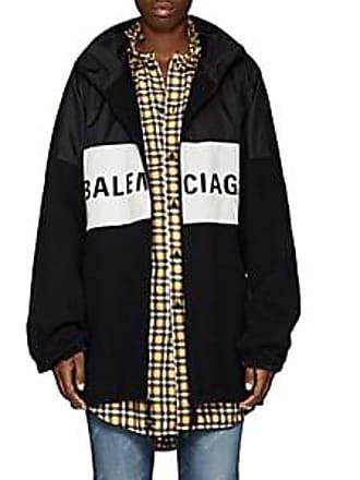 Balenciaga Womens Logo-Print Denim Jacket - Black Size 34 FR 1410f8fc78