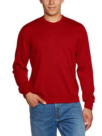 Maerz Merinowolle Pull-over Col ras du cou Manches longues Homme - Rouge -  Rot 4dd8b71e0ec3