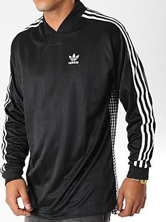 004cc374eb6 adidas Tee Shirt Manches Longues De Sport Side D76309 Noir Blanc