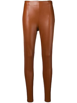 Dorothee Schumacher leather effect leggings - Brown