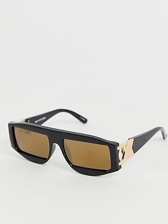 ef81831e10 Spitfire Gafas de sol cuadradas con cristales reflectantes dorados en negro  VNU de Spitfire