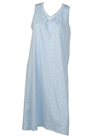 Slenderella Ladies 100% Cotton Dobby Dot Nightdress Sleeveless V Neck  Nightie UK 20 22 46eb7bb6f
