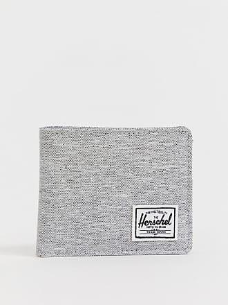 34a0338b90 Herschel Roy - Portefeuille portes-cartes avec RFID à motif hachuré - Gris  clair -