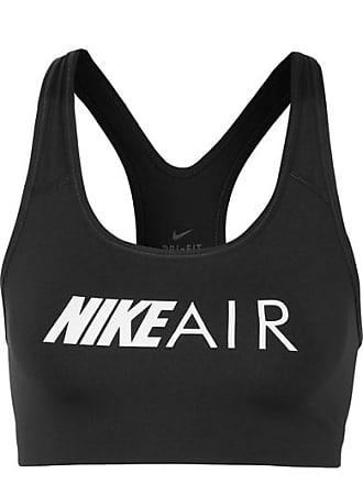 5e9537a16a9 Nike Swoosh Printed Dri-fit Stretch Sports Bra - Black