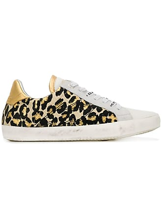 Zadig & Voltaire leopard print sneakers - White