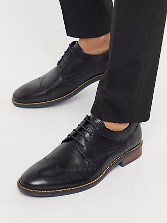 Silver Street London leather lace up brogues in black