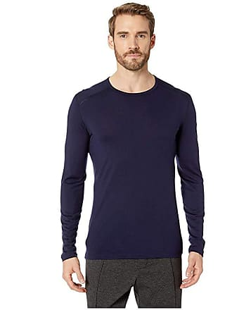 Icebreaker Oasis Mid-Weight Merino Long Sleeve Crewe (Midnight Navy 1) Mens Long Sleeve Pullover