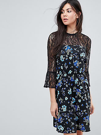 6cd0503fdccea3 Influence Tall Lace Yoke And Sleeve Floral Skater Dress