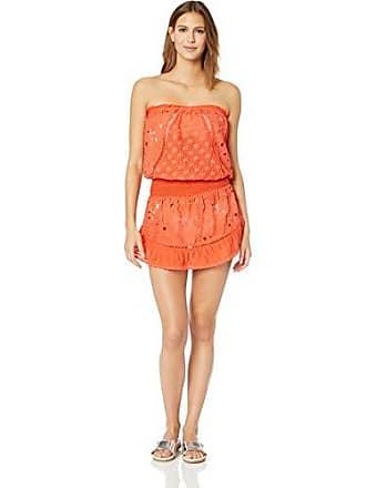 Ramy Brook Womens Kalani Dress, Bright Coral, Extra Small