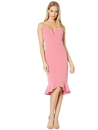 Bardot Kristen Peplum Dress (Melon) Womens Dress