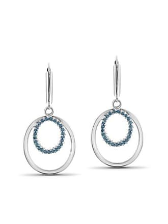 JewelersClub JewelersClub 1/2 Carat T.W. Blue Diamond Sterling Silver Earrings