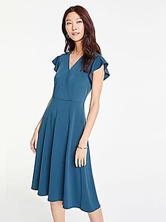 ANN TAYLOR Flutter Sleeve Wrap Dress in Matte Jersey