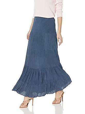 Karen Kane Womens Crushed Maxi Skirt, Navy Extra Large