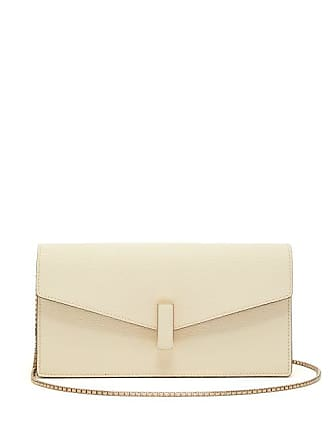 Valextra Iside Grained Leather Clutch - Womens - White