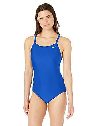 f52325f724191 Nike Swim Womens Solid Racerback One Piece Swimsuit, Game Royal, 32